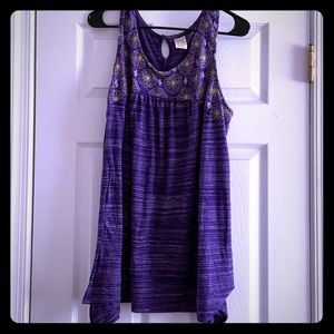 Heathered Purple Sleeveless Top